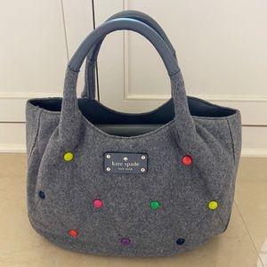 Kate Spade Grey wool hand bag
